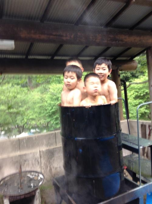 ドラム缶五右衛門風呂